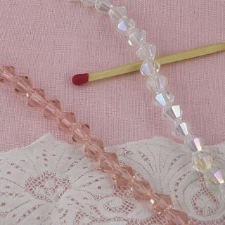 Perle cristal facettes 6 mm.