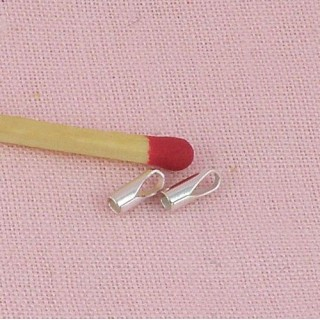 Metal plaqued end caps 2 mms