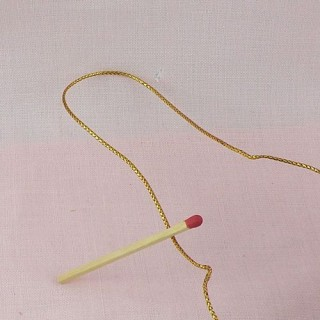 Metallic tinsel gold cord with wire 1,5 mm.