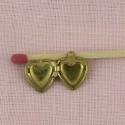 Pendentif breloque cœur creux bijou poupée 13 mm