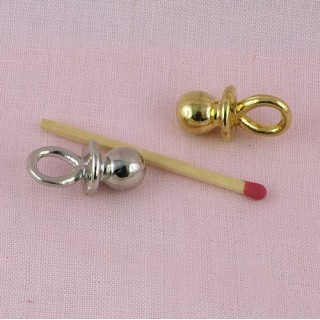 Pacifier for doll, metal pendant 24 mms