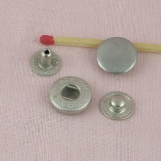 Bouton pression métal àemboutir 14 mm.