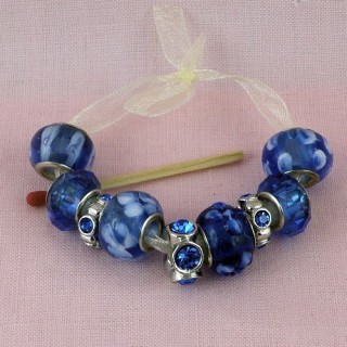 Large hole metal lined beads 14 mms.