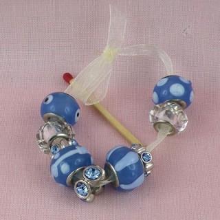 Perles nacrées rondes de rocaille 2 mm, 10g.