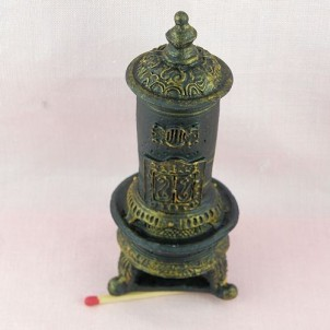Parlor stove doll house miniature
