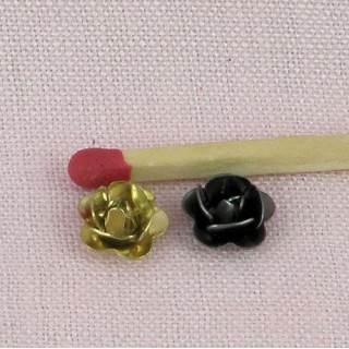 Metal flower, bracelet charm, jewel doll, 7,5mm diameter