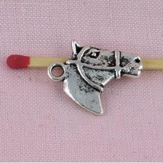 Horse head bracelet charms, Pendant animal 2 cms