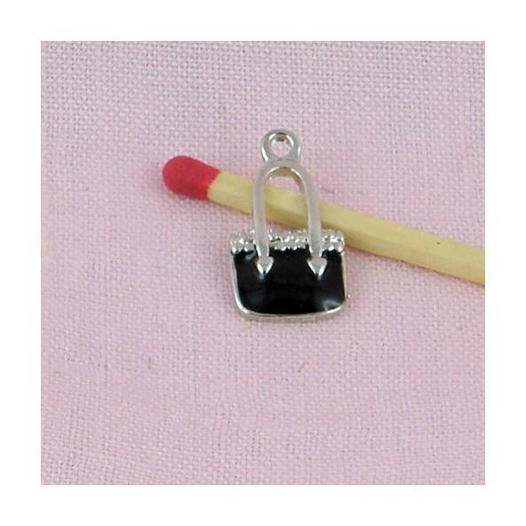 Sac à main metal, breloque, pendentif, charms 1,9 cm.