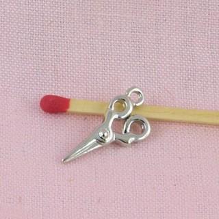Ciseaux miniature métal, breloque, 3 cm.