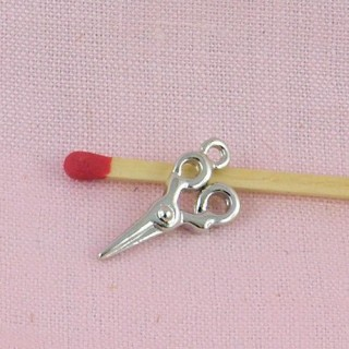 Miniature  brass Scissors charms 5 cms