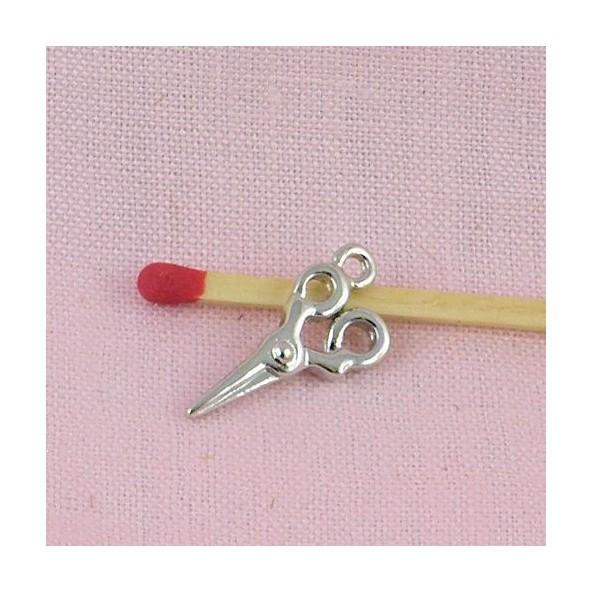 Miniature  brass Scissors charms 5 cms