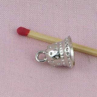 Cloche, clochette, métal luxe poupée, 1,7 cm