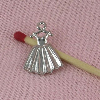 Dress pendant, bracelet charm,2cms