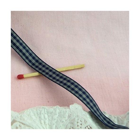 Check vintage Vichy ribbon 9 mms.