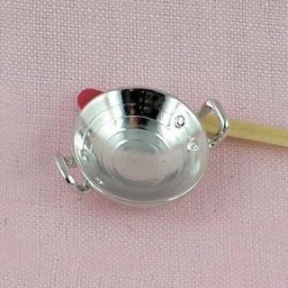 Miniature round tin colander