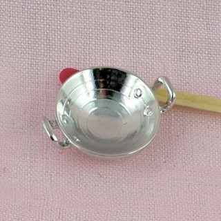 Miniature Anti grey round tin container 2.75 inches
