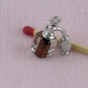 Spray miniature, bracelet charm metal 2,2 cms, 23 mm.