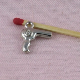 Hairdryer metal miniature for dollhouse.