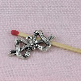 Metal bow, decoration, bracelet charm, charms 1,5 cms.
