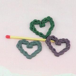 Coeurs en couronne, à coller 3 cm