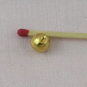 Grelot mini clochette 8 mm 2 pans.