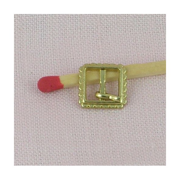 Square Buckle miniature tiny doll accessories 1 cm