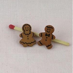 Bouton gâteau Noël bonhomme pain d'épice