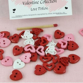 Dress it up, Heart love potion buttons.