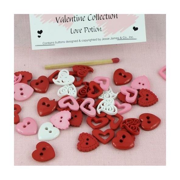 Dress it up, Heart love potion buttons.