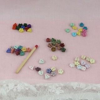 Mini buttons Mischung Formen