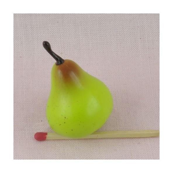 Fruits miniatures jouet marchande poupée, pomme, poire, banane 0,9cm.