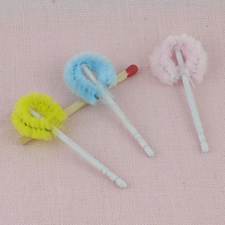Toilet brushes doll house miniature accessories 5 cms.