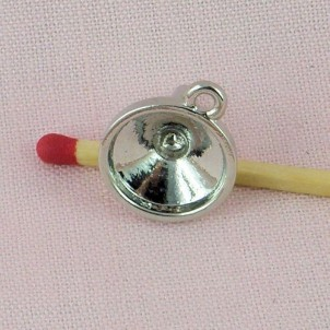 Doll Miniature metal Funnel, bracelet charm, pendant 18 mms,
