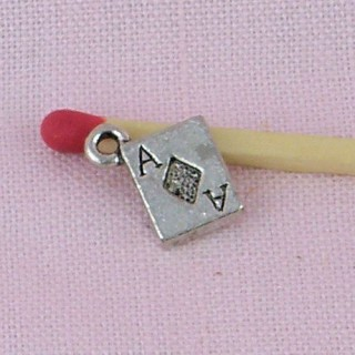 Card, bracelet charm, jewelry 9 mm