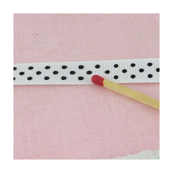 Grosgrain dots ribbon 1 cm