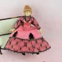 Miniature Victoirian lady  doll 1/12, articuled dollhouse