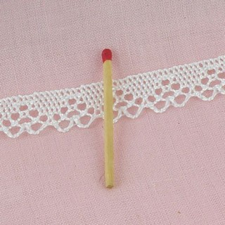 Triangle lace trim, cluny cotton lace 18 mm, 18 mms.