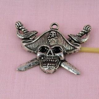 Pendant pirates, charm, Death's-head miniature, 2,4 cm.