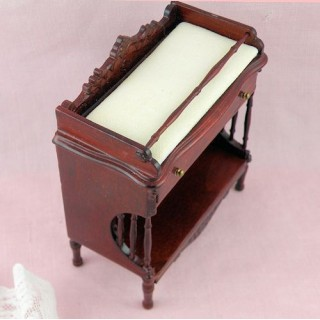Mahogany Changing table doll house miniature