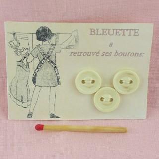 Carte rétro 3 boutons Bleuette.
