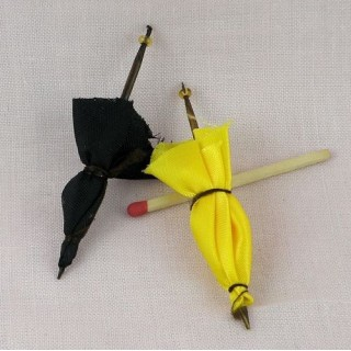 Umbrella miniature for doll house 6 cms.