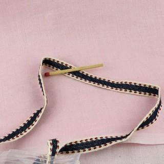 Galon coton épais poupée 1 cm.