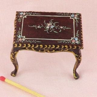 Miniature hand painted table desk furniture doll house
