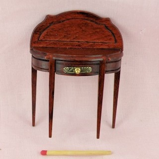 Miniature doll house living room hall round table, tiny furniture