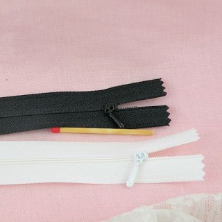 Tiny zipper for Barbie doll, smallest 7,5 cms