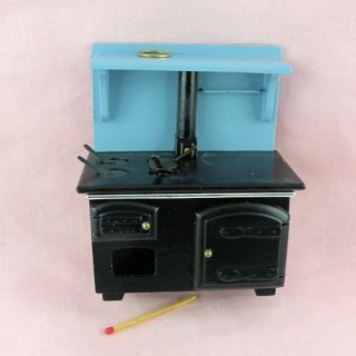 Wood-burning stove, dollhouse kitchen