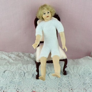 Miniature child character doll 1/12, luxurous and articuled