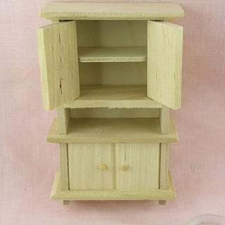 Kitchen miniature wooden dresser 11 cms