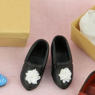 Paar Schuhe 1/12 Miniatur Frau Puppenhaus