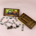 Wagon wood toy with 6 cubes, doll house miniature,